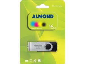 Almond flash drive 16GB USB 0.2 Twister black/silver