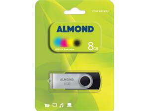 Almond flash drive 8GB USB 0.2 Twister black/silver
