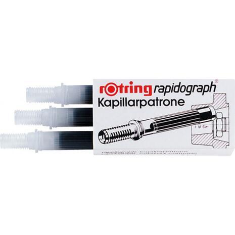 Αμπούλες ραπιδογράφου Rotring Μαύρες (3 τεμάχια)
