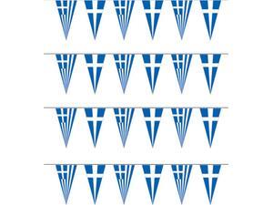 Γιρλάντες Ελληνικές υφασμάτινες 35x70cm (12m)