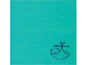 Βιβλίο ευχών βαπτίσεων 23x23cm Silk Γαλάζιο HB 10193