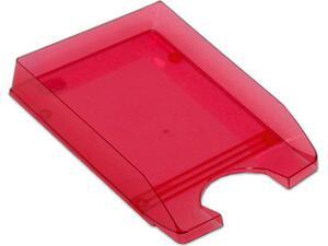 Χαρτοθήκη γραφείου πλαστικό διάφανο κόκκινο