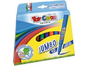 Μαρκαδόροι ζωγραφικής Toy Color Jumbo  (12 τεμάχια)