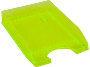 Χαρτοθήκη γραφείου πλαστικό διάφανο κίτρινο