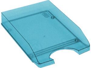 Χαρτοθήκη γραφείου πλαστικό διάφανο μπλέ