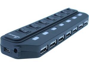 USB Hub MediaRange 7-Θύρες Usb 2.0 Μαύρο MRCS504