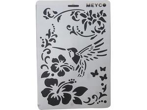Στένσιλ Meyco A4 πολυπροπυλένιου άνθη-πουλί