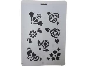 Στένσιλ Meyco A4 πολυπροπυλένιου Λουλούδια