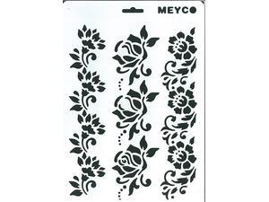 Στένσιλ Meyco A4 πολυπροπυλένιου Τριαντάφυλλα