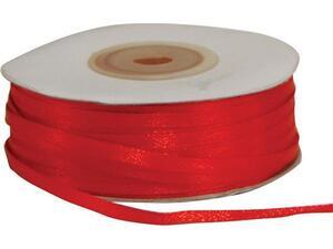 Κορδέλα Κόκκινη υφασμάτινη σατέν διπλής όψης 3mm - 100μ