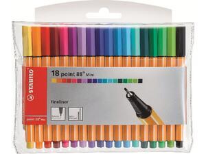 Μαρκαδόροι Stabilo 88 mini σε διάφορα χρώματα (18 τεμάχια)