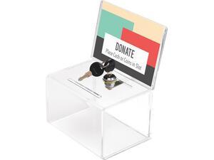 Κουτί ακρυλικό Exas με οπή και κλειδαριά
