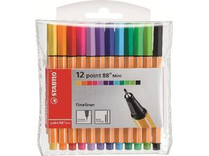 Μαρκαδόροι Stabilo 88 mini σε διάφορα χρώματα (12 τεμάχια)