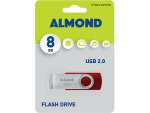 Usb 8GB Almond twister κόκκινο flash drive