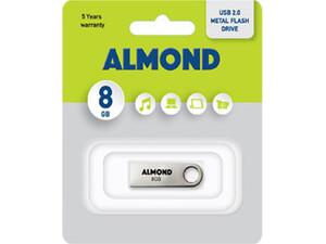USB Almond 8GB μεταλλικό mini flash drive