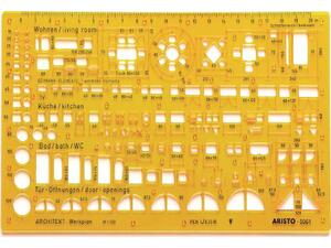 Στένσιλ αρχιτεκτονικό Aristo  1/100 5061