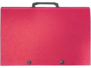 Χαρτοφύλακας  PP κουμπί χερούλι  27x38x4cm κόκκινη