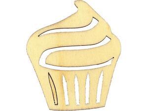 Cup cake ξύλινο 6.5x5,7x0,3cm