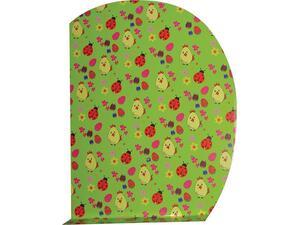 """Βάση για δώρο και κουτί λαμπάδας  """"πασχαλίτσες σε πράσινο φόντο """" 35x50cm"""