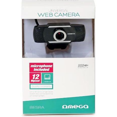Ψηφιακή web κάμερα OMEGA USB με μικρόφωνο και μαγνητική βάση