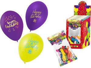 Μπαλόνια Happy Birthday Swan 26cm 12 τεμάχια