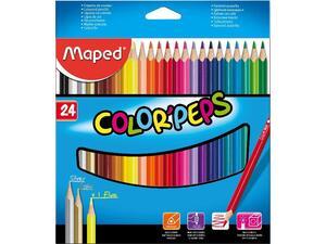 Ξυλομπογιές MAPED Color' Peps πακέτο 24 τεμαχίων
