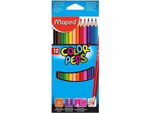 Ξυλομπογιές MAPED Color' Peps πακέτο 12 τεμαχίων