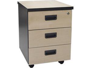 Συρταριέρα γραφείου  3 Συρτάρια 40x48x56cm Dark Grey/Beech