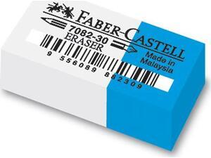 Γόμα Faber Castell 7082 άσπρη-μπλε mini