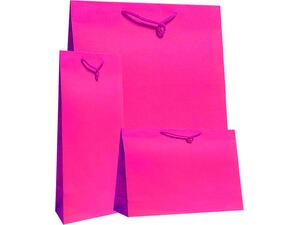Χάρτινη σακούλα δώρου 11x7x4cm φούξια