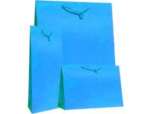 Χάρτινη σακούλα δώρου 11x7x4cm γαλάζιο