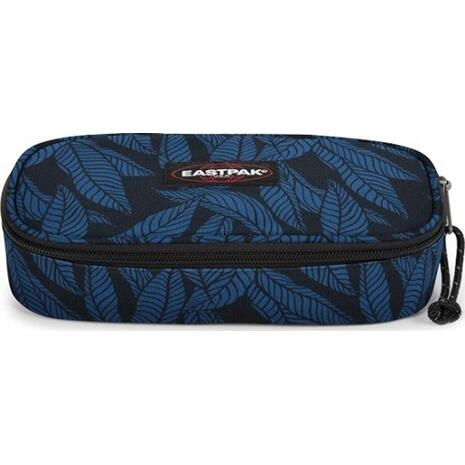 Κασετίνα οβάλ EASTPAK Single Leaves Blue (71743T)