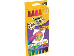 Λαδοπαστέλ BIC Kids (συσκευασία 12 τεμαχίων) (Διάφορα χρώματα)