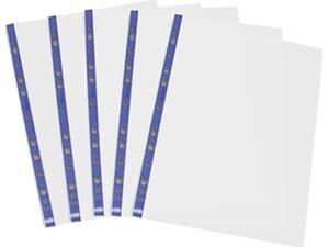 Ζελατίνες METRON ενισχυμένες A4 μπλε με οπές και άνοιγμα στο πλάι