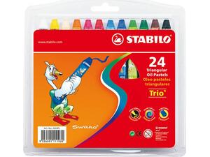 Λαδοπαστέλ STABILO Trio (24 τεμάχια) (Διάφορα χρώματα)