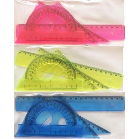 Σετ γεωμετρικά σχήματα 20cm Χρωματιστά (4 τεμάχια)