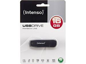 Usb 16 GB INTENSO 2.0 Rainbow Line Black