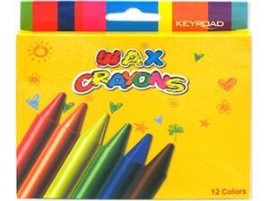 Kηρομπογιές KEYROAD συσκευασία 12 τεμάχια (Διάφορα χρώματα)