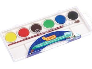 Νερομπογιές JOVI με πινέλο πακέτο 6 χρωμάτων