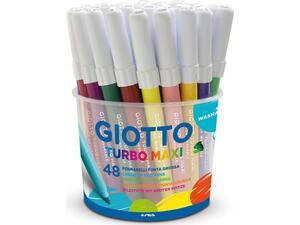 Μαρκαδόροι ζωγραφικής GIOTTO turbo maxi χονδροί (48 τεμαχίων)