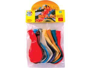 Μπαλόνια σε μεταλλικά χρώματα συσκευασία 10 τεμαχίων