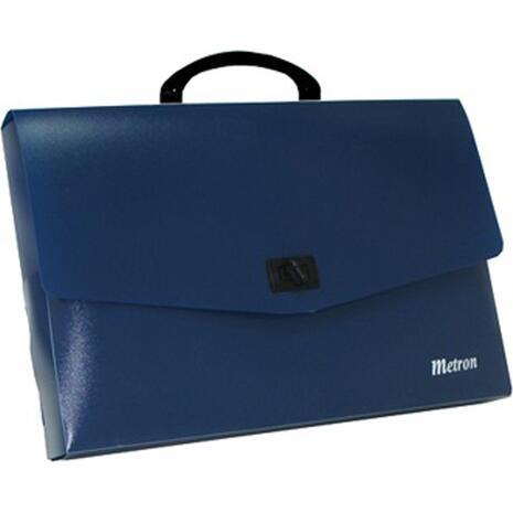 Τσάντα σχεδιού πλαστική Metron 26x35x5 μπλε