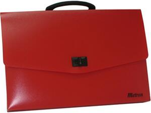 Τσάντα σχεδιού πλαστική Metron 26x35x5 κόκκινη