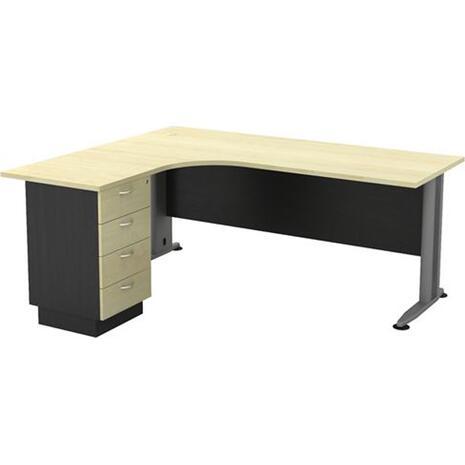 Γραφείο επαγγελματικής χρήσης Superior Compact - αριστερή γωνία 180x70x75/150x60x75 [Ε-00019942] ΕΟ995L (Καφέ)