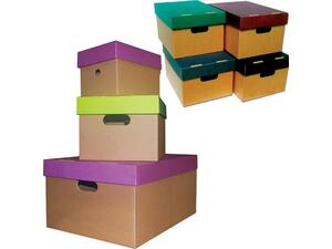 Κουτί Α5 απο χαρτόνι με καπάκι 16x16x22cm σε διάφορα χρώματα