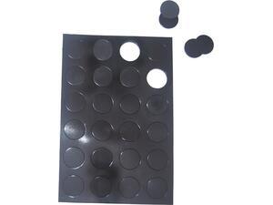 Μαγνήτης μαύρος στρογγυλός 14x2mm συσκευασία 50 τεμαχίων
