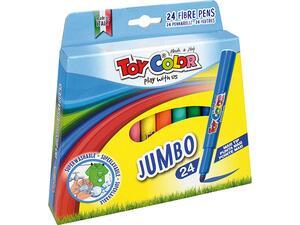 Μαρκαδόροι ζωγραφικής TOY COLOR JUMBO πακέτο 24 τεμαχίων 220.042Ν