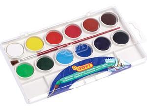 Νεροχρώματα JOVI 12 χρωμάτων με παλέτα