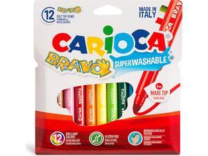 Μαρκαδόροι ζωγραφικής CARIOCA Bravo maxi  (12 τεμάχια)