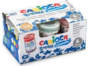 Τέμπερες Carioca 25ml ( 6 τεμάχια )